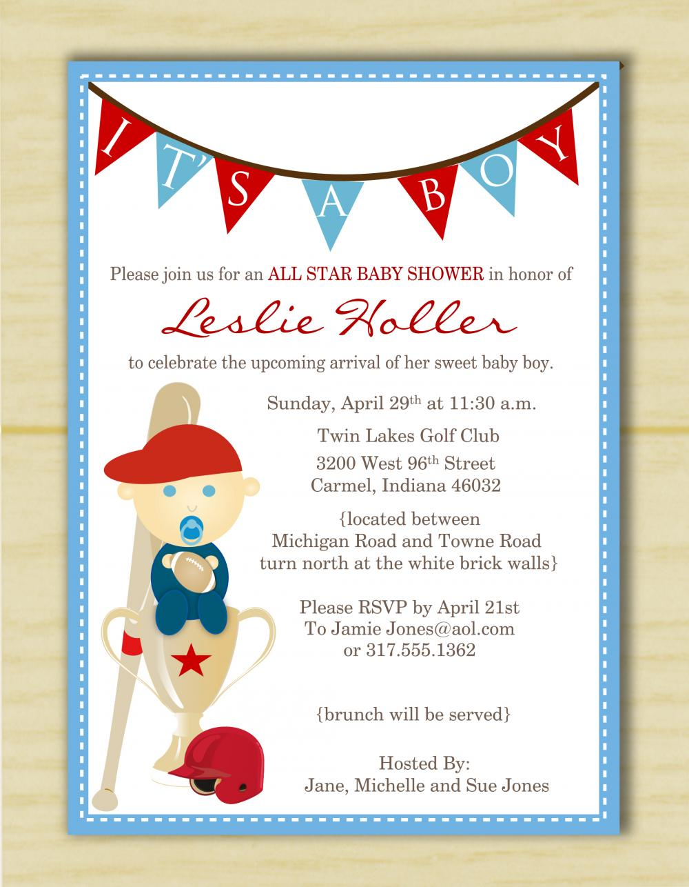 it 39 s a boy sports baby shower invitation set of 10 on luulla